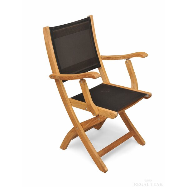 Prescott Teak Patio Dining Chair (Set of 2) by Rosecliff Heights Rosecliff Heights
