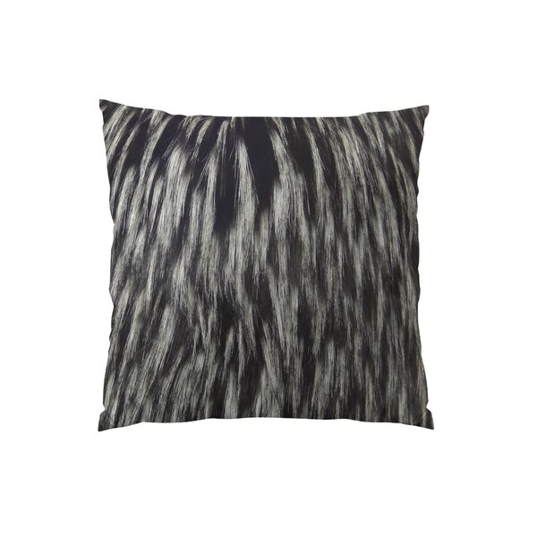 Wolf Fur Handmade Throw Pillow by Plutus Brands