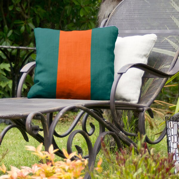 Miami Throwback Football Indoor/Outdoor Throw Pillow