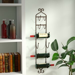 Vallauris 6 Bottle Wall Mounted Wine Rack by Lark Manor