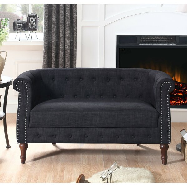 Edmeston Chesterfield Loveseat by Alcott Hill