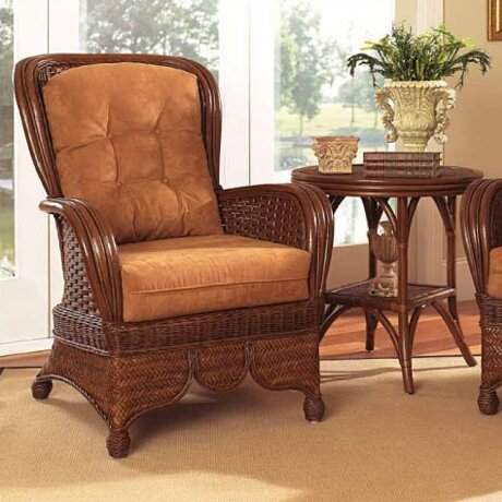 Moroccan Wingback Chair by Boca Rattan
