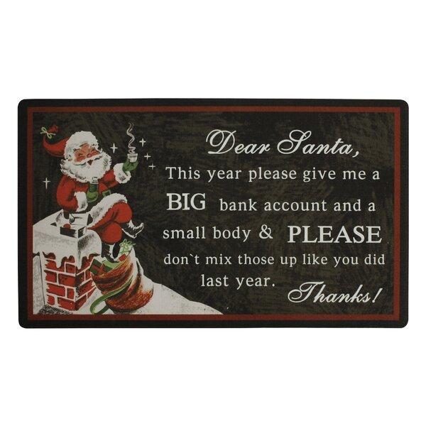 Dear Santa Doormat by Attraction Design Home