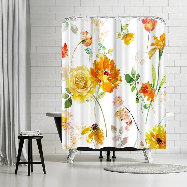 Harrison Ripley Peony Shower Curtain by East Urban Home