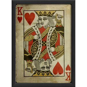 King of Hearts Framed Graphic Art by The Artwork Factory