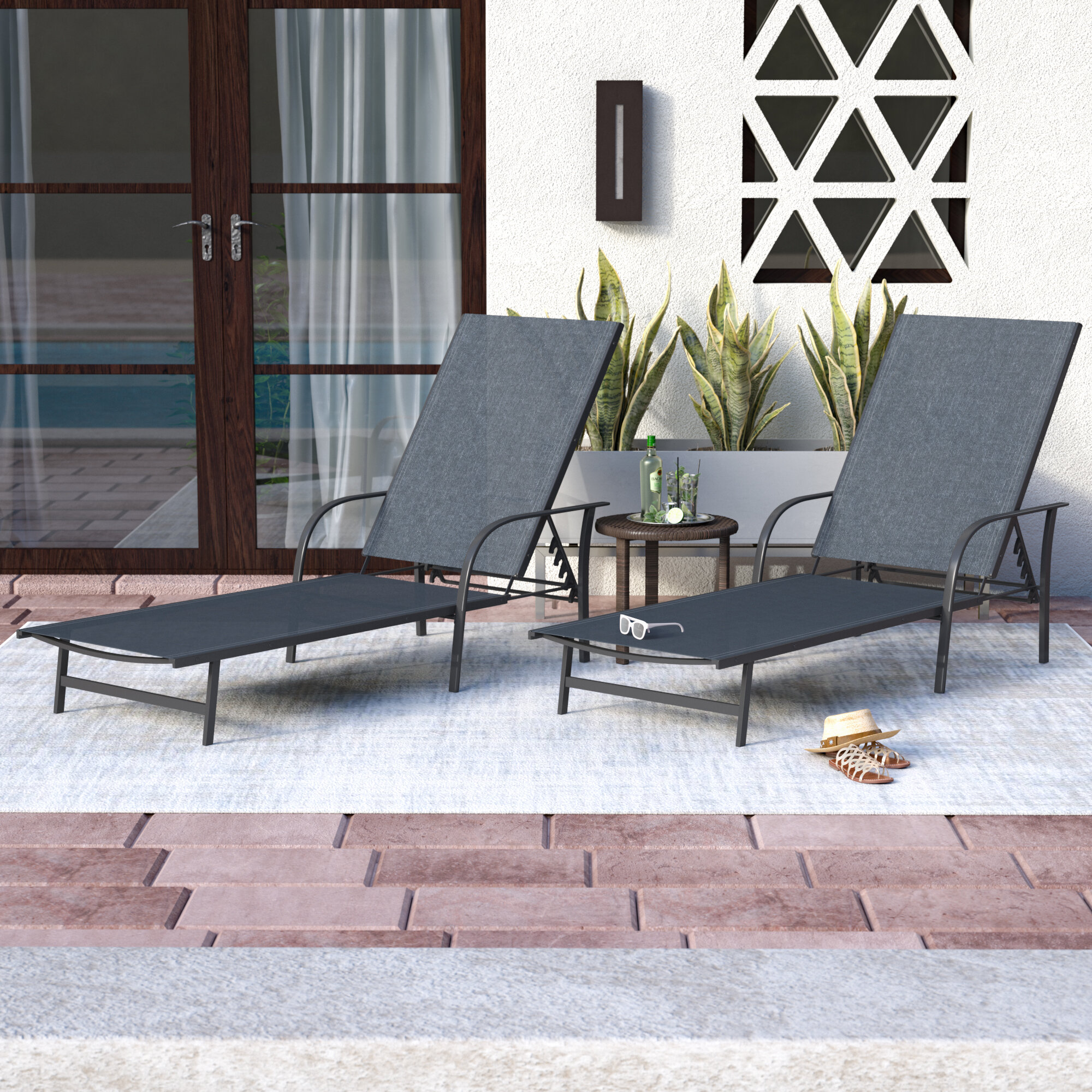 chaise lounges park lounge toffee cushions outdoor beacon with bay steel p hampton wicker