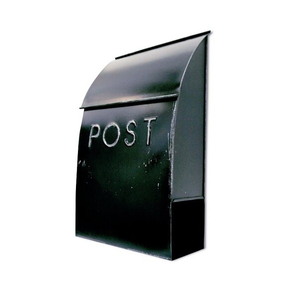 Milano Pointed Post Wall Mounted Mailbox by NACH