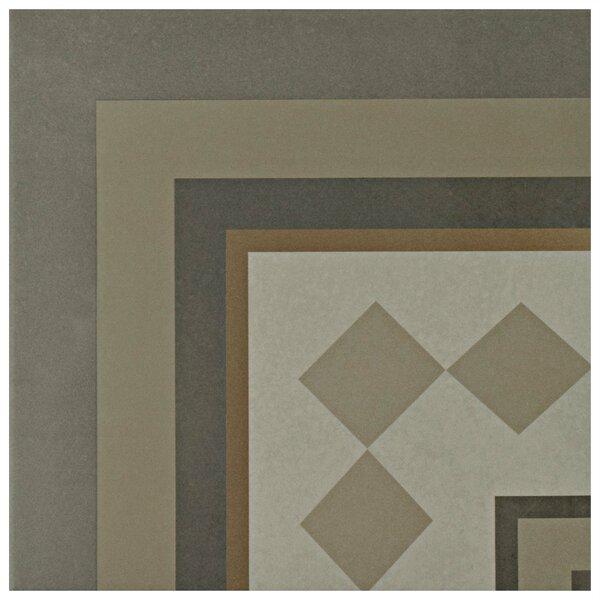 Grotta 7.88 x 7.88 Porcelain Field Tile in Gray/Yellow/Beige by EliteTile