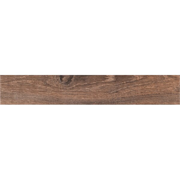 Upscape Bruno 3 x 18 Porcelain Wood Look Tile in Brown by MSI