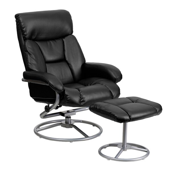 Perrie Manual Swivel Recliner with Ottoman by Latitude Run