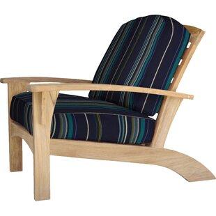 Augusta Teak Patio Chair with Sunbrella Cushions by Douglas Nance