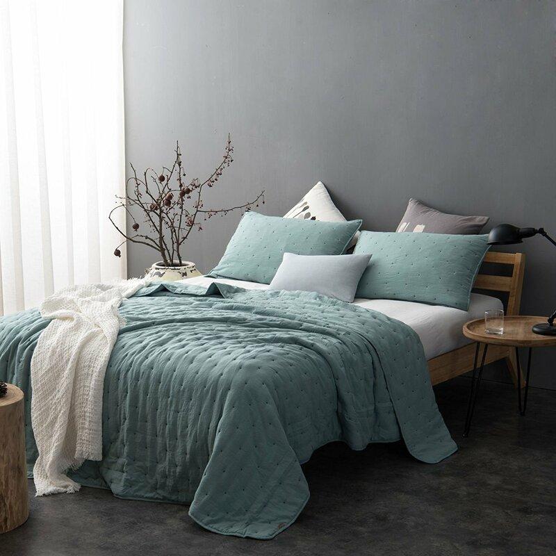 Greyleigh Fleisher Pre Washed Reversible Quilt Set Reviews Wayfair