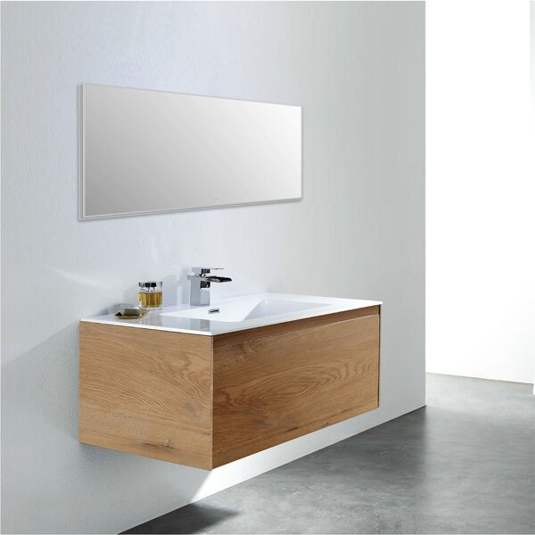 Board 36 Wall-Mounted Single Bathroom Vanity Set by George Oliver
