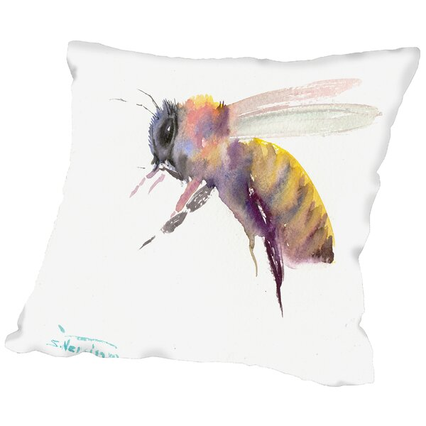 Honey Bee Throw Pillow by East Urban Home