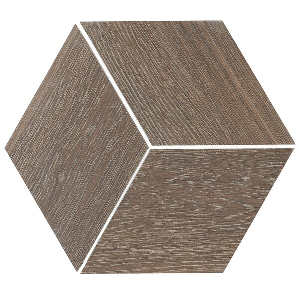 11.5 x 11.5 Porcelain Wood Look Tile in Brazilian Walnut by Itona Tile