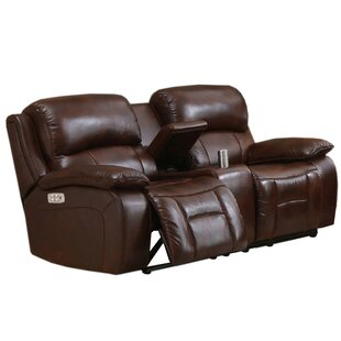 Westminster II Leather Reclining Loveseat HYDELINE