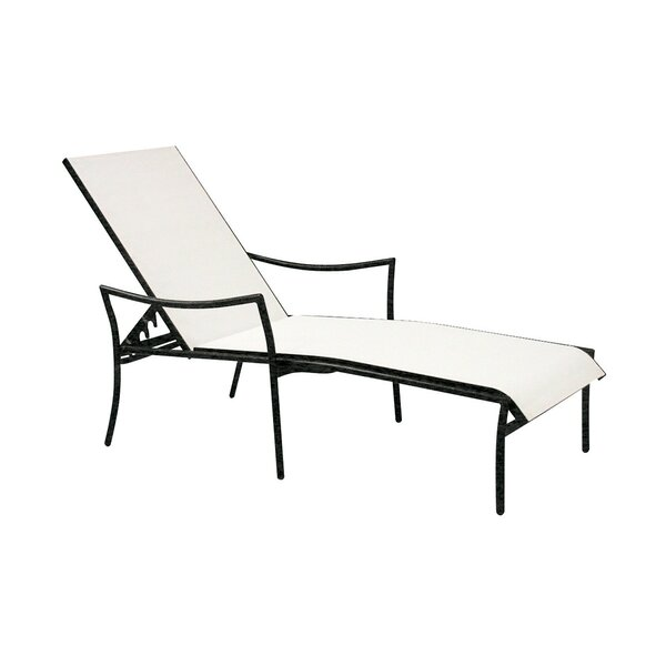 Dominica Adjustable Stacking Chaise Lounge by Woodard