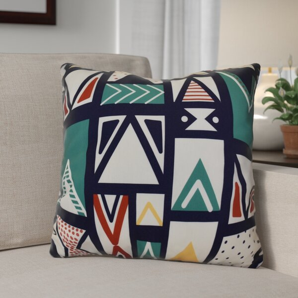 Decorative Geometric Throw Pillow by The Holiday Aisle