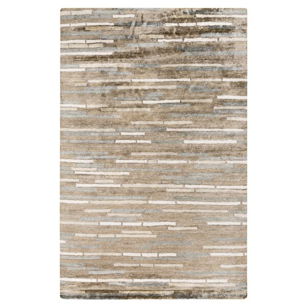 Barrera Parchment/Feather Gray Rug by Latitude Run