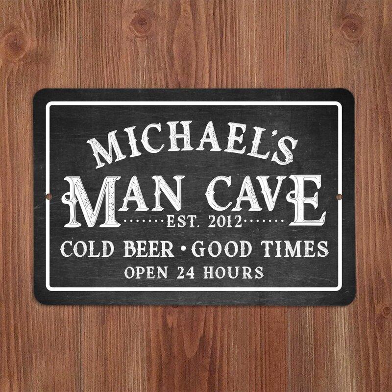 man cave Peppermint Ice Cream Garage Retro metal Aluminium Sign vintage