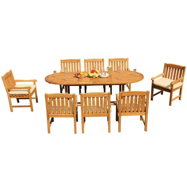 Maskell 9 Piece Teak Dining Set