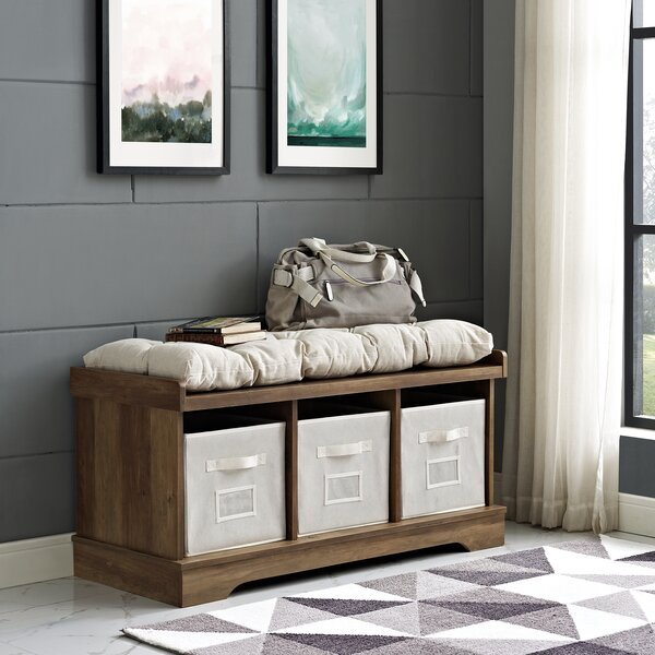 Liller Wood Storage Bench By Alcott Hill.