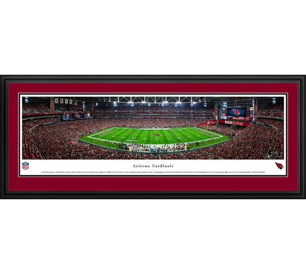 NFL Arizona Cardinals 50 Yard Line Framed Photographic Print by Blakeway Worldwide Panoramas, Inc