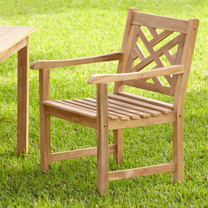 Birch Lane Summerton Lattice Back Patio Dining Chair Reviews