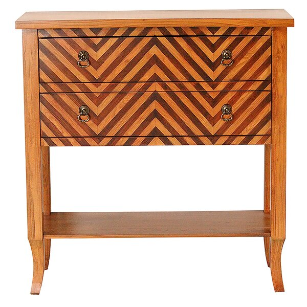 Winbush Chevron 2 Drawer Accent Chest by Charlton Home Charlton Home