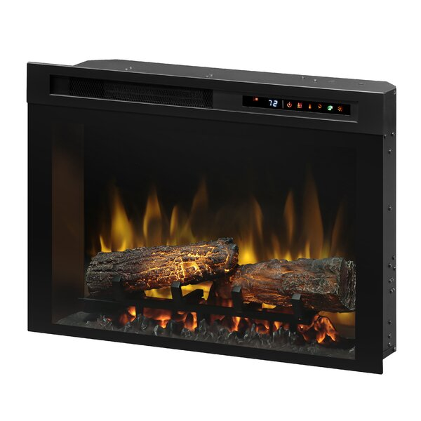 Firebox Landscape Front Mount Glass Media Electric Fireplace Insert by Dimplex