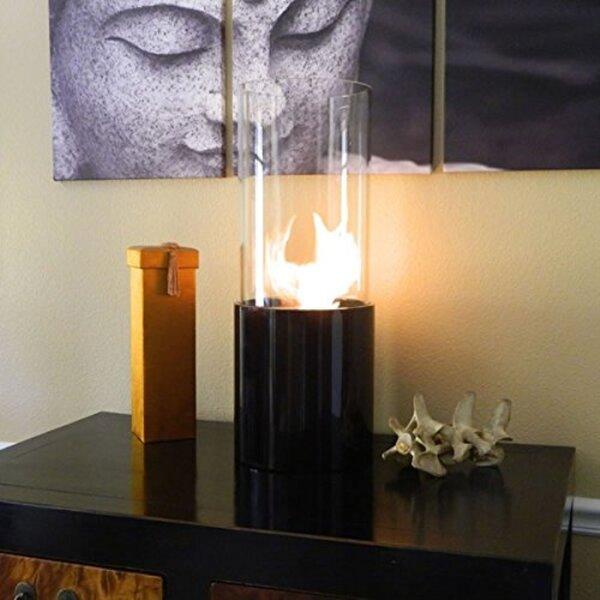 Nu-Flame Doppio Noir Bio-Ethanol Tabletop Fireplace by ALEKO
