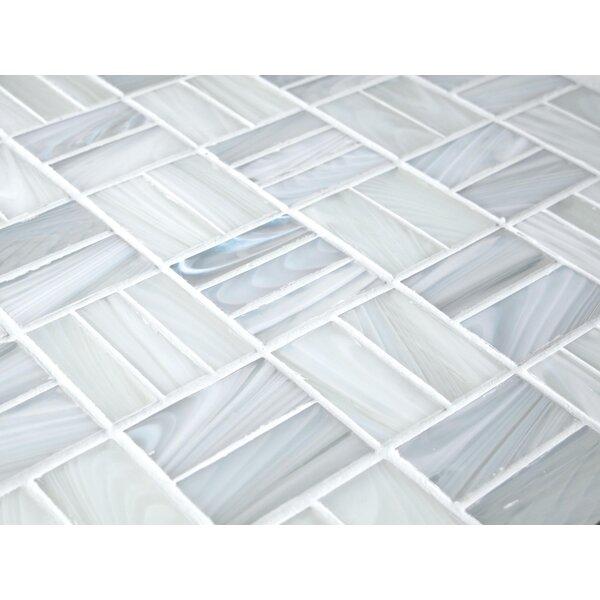 Antartic Kula 1 x 2 Glass Mosaic Tile in White by Tile Focus