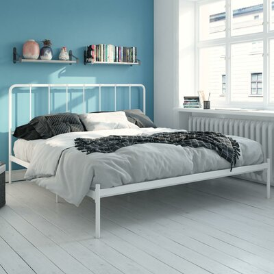 Mystic Platform Bed Hashtag Home Color: White, Size: King