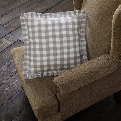 August Grove Caulder Buffalo Check 100 percent Cotton Throw Pillow