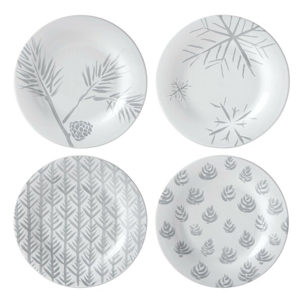 Alpine Assorted 4 Piece Dessert Plate Set by Lenox