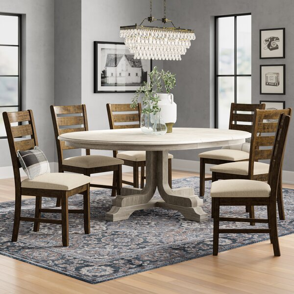New Canaan Round Extension Dining Table by Three Posts Three Posts
