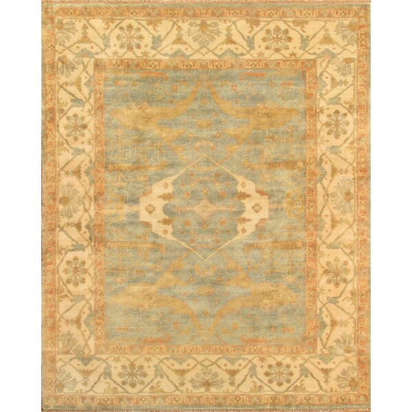 Oriental Oushak Hand-Knotted Wool Ivory Area Rug