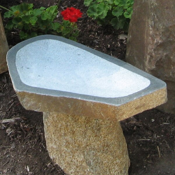 Large Granite Boulder Birdbath by Stone Age Creations