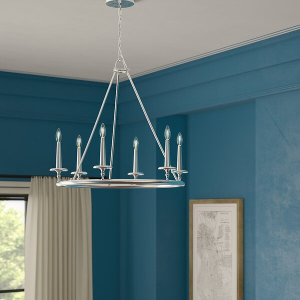 Auxvasse 6 - Light Candle Style Wagon Wheel Chandelier By Greyleigh