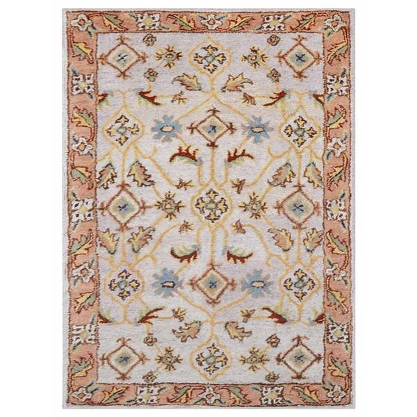 Creamer Vintage Hand-Tufted Wool Cream/Brown Area Rug by Darby Home Co