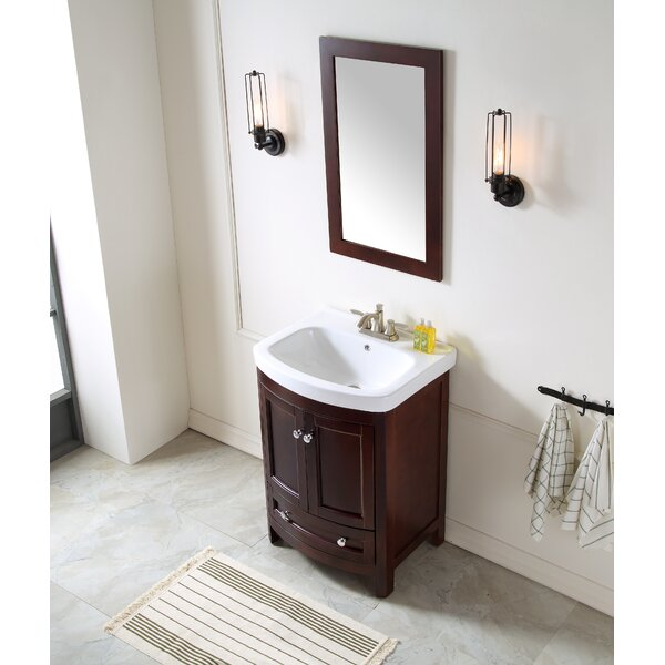Craddock 24 Single Bathroom Vanity Set with Mirror by Alcott Hill