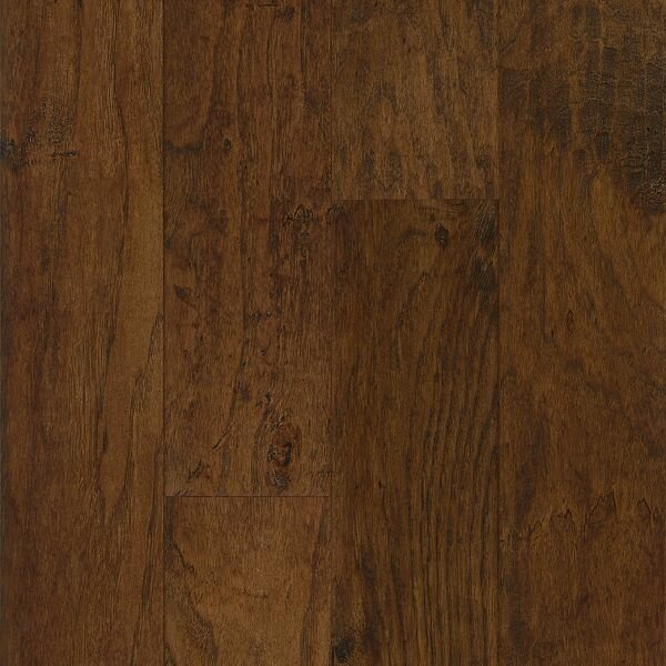 American Scrape 5 Engineered Hickory Hardwood Flooring in Wilderness Brown by Armstrong Flooring