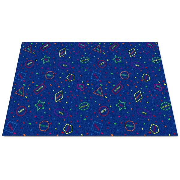 I Know My Shapes Blue Area Rug by Kid Carpet