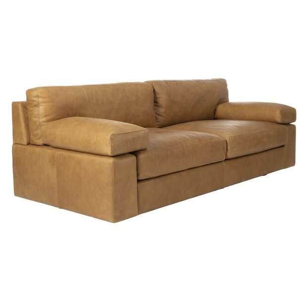 Justina Leather Sofa by Union Rustic Union Rustic