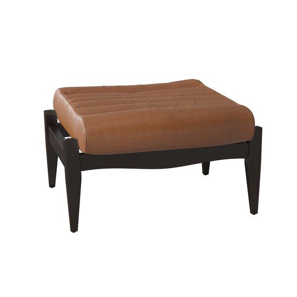 Hans Leather Ottoman by Wayfair Custom Upholstery��