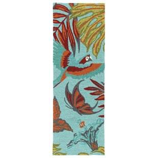 Where buy  Navarre Handmade Blue Indoor/Outdoor Area Rug By Bay Isle Home