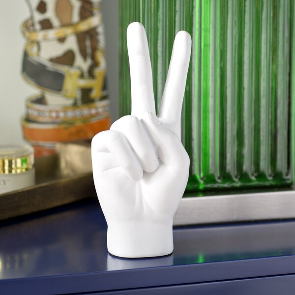 Alani Peace Sign Table Sculpture by Willa Arlo Interiors
