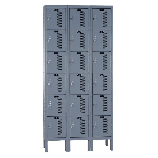 Heavy Duty 6 Tier 3 Wide Employee Locker by Hallow