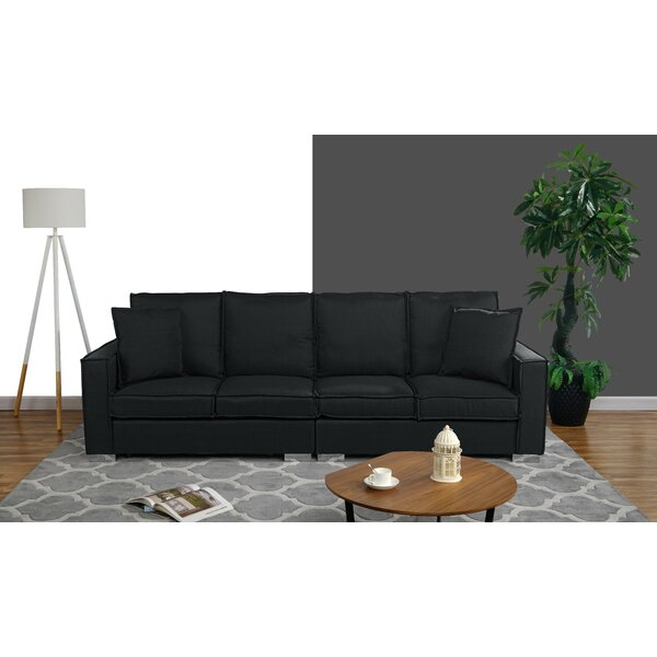 Best Deals Hubert Modern Low Frame Sofa by Orren Ellis by Orren Ellis