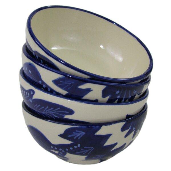 Jinane 8 oz. Stoneware Deep Sauce/Ice Cream Bowl (Set of 4) by Le Souk Ceramique